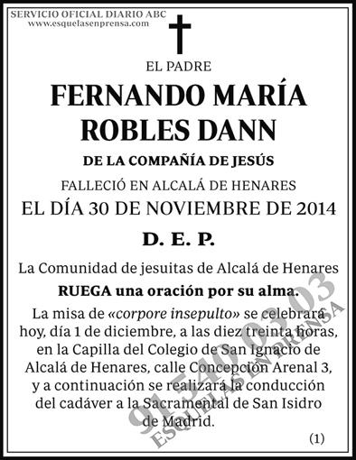 Fernando María Robles Dann